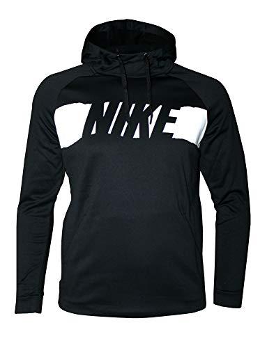Nike Men's Therma Dri Fit Hoodie Athletic Pullover (Black, M)