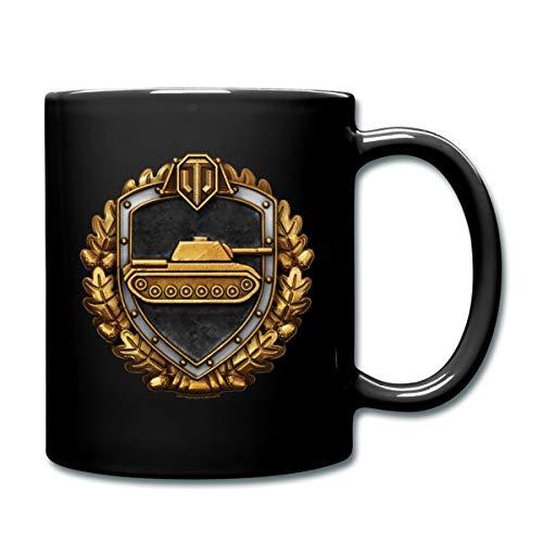 World Of Tanks Medaille Stahlwand Tasse einfarbig, Schwarz