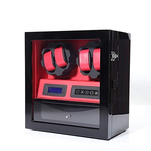 WXDP Automatischer Uhrenbeweger, 4 + 5 Piano Paint LED High-End-Smart-Touchscreen- lautlos laufender Rotationsmotor, Antimagnetisierung 30,5 * 18,5 * 32,5 cm für Damen- und Herrenuhren (Farbe: D)