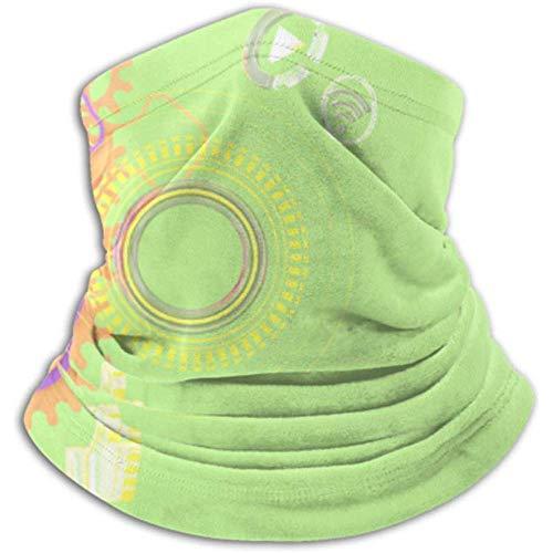 Calentador de Cuello Equipo láser con Bolas de Colores en Bufanda, máscara Facial Completa o Sombrero, Polaina de Cuello, máscara de esquí con Gorra de Cuello