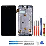 Pantalla LCD para Bq Aquaris U/Bq Aquaris U Lite, color negro, pantalla táctil, digitalizador, cristal de montaje, marco y herramientas