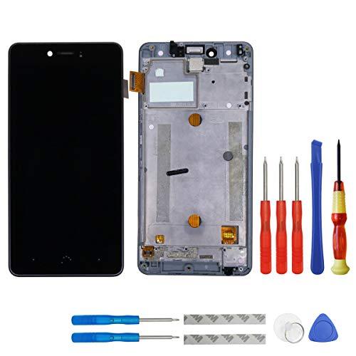 swark Pantalla LCD para BQ Aquaris U/BQ Aquaris U Lite Negro Pantalla táctil de Pantalla Assembly digitalizador + Marco + Herramientas