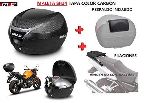 SHAD Kit BAUL Maleta Trasero SH34 litros + FIJACION + Respaldo Pasajero Regalo - Honda SH125...