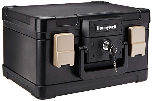 Honeywell Safes & Door Locks - 30 Minute Fire Safe Waterproof Safe Box Chest with Carry Handle, Small, 1102