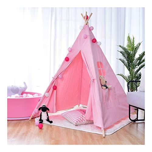 Home Zelt, Kinder Teepee-Spiel-Zelt, Kinderspielbett Zelt, Gebaut Ough Last, Ideal For Junge Mädchen (Color : Pink)
