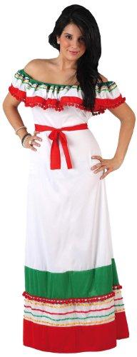 Atosa-12008 Disfraz Mejicana, color blanco, XL (12008)