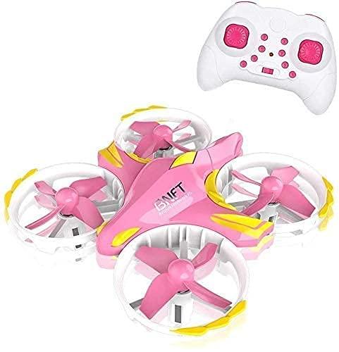 DCLINA Mini Drone per Bambini UFO Elicottero telecomandato con modalità Senza Testa 2.4G 4CH Una Chiave Ritorno Giocattoli Volanti per Ragazzi e Ragazze Interazione