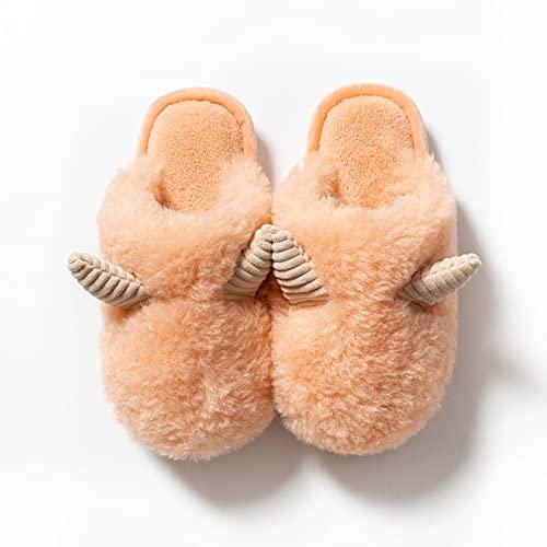 Impermeable Zapatillas de Estar por casa para Mujer con Forro Pelusa Caliente Pantuflas Interior Zapatillas Invierno Al Aire Libre -B/A / 36/37