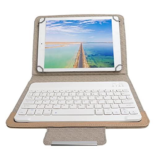 PUSOKEI Funda Protectora de Teclado para Tableta Bluetooth, 9.7-10.1In Funda Protectora de Cuero PU para Teclado, Cubierta de Teclado Ultraligera y Delgada para Android/iOS Tableta Teléfono (Oro)