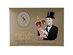 2 x Most Jewel Sparkle Tissue Sachets 12.5cm x 17.5cm Gold Polishing Cloth Convenient Size Cardboard Wallet World Renowned English Brand Made In England (Since 1895)