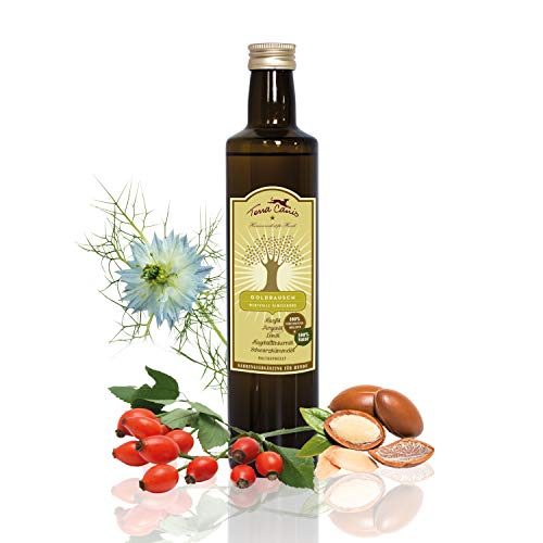 Terra Canis Goldrausch Öl – The Fabulous Five I Exquisite Öl-Mischung als natürliche Nahrungsergänzung für eine hochwertige Hundeernährung I 250 ml