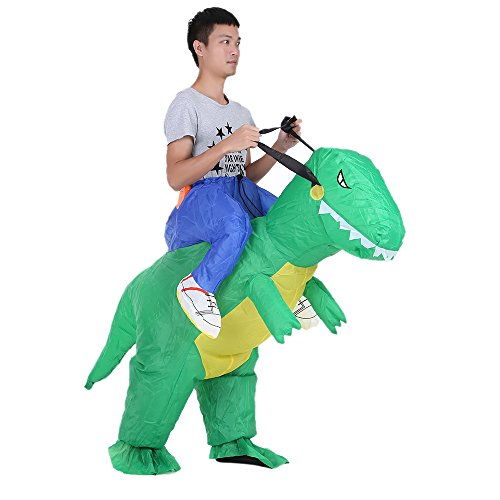 Anself Gonflable Costume Mignon Adulte Dinosaur Costume Air Fan Operated Marcher Fancy Dress Halloween Party Outfit T-Rex Gonflable Costume d'animal