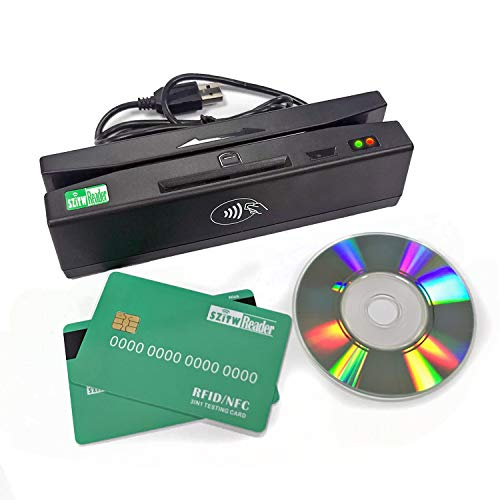 SZiTW Reader USB PCSC 4 in 1 Magnetic Card Reader EMV chip/NFC/PSAM Card Reader Writer only for APDU Command Professional Person