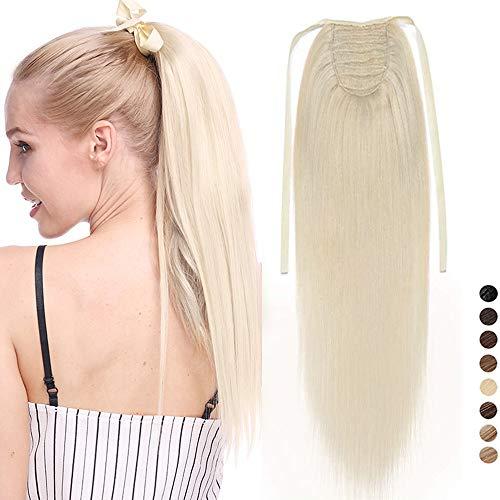 Postiche Queue de Cheval Cheveux Naturel - Rajout Vrai Cheveux Humain - Tie up Binding Ponytail Extensions Queue de Cheval Attaché Par Bandeau - 16\
