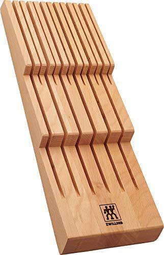 ZWILLING Messerhalter für Schubladen, Schubladen-Einsatz, Für 12 Messer, 41 x 15,5 x 4,8 cm, Holz