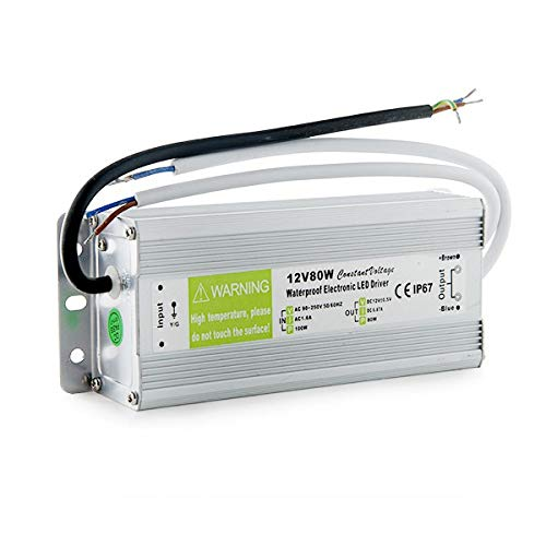 Greenice   Transformateur LED 80W 230VAC/12VDC IP67