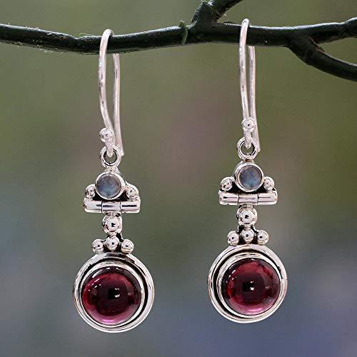☀ Dergo ☀ Women Vintage Jewelry Moonstone Earrings Gemstone Dangle Hook Stud Earring Gift