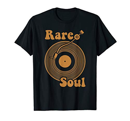 Rare Soul Music Vintage Old School DJ Turntable T-Shirt