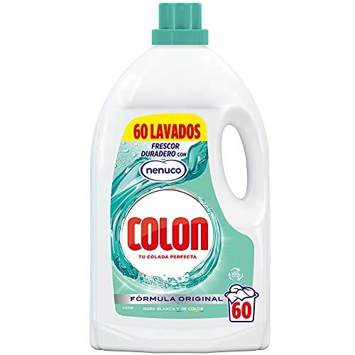 Colon Nenuco - Detergente para Lavadora, adecuado para Ropa Blanca y de Color, Formato Gel - 60 dosis