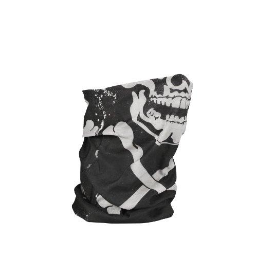 Zan ZANheadgear Headwear/Tubo Panno Multifunzionale per l'uso Quotidiano, Moto, Sci, Snowboard, ECC TF227. con Fodera in Pile