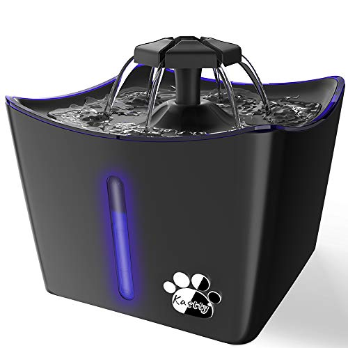 Kastty Cat Water Fountain, Pet Water Fountain, Whisper Quiet 3L/101oz Kitty Water Fountains, Water Bowl Drinking Fountain for Cats, Cat Water Dispenser with LED Light,1 Cat Waterer Filter
