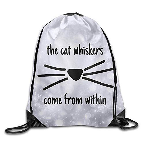Lsjuee Dan and Phil Cat Whiskers Unisex Daypack Drawstring Backpack/Rucksack