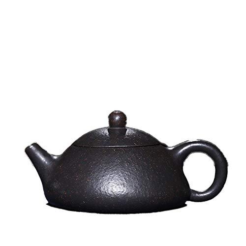 CRTTRC Tetera de Yixing del Mineral Negro Pendiente de la Pared Interior de Piedra de la Cucharada de té Especial el capítulo (Color : Black Zhu mud)