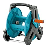 Gardena Reel Classic 50: Reel for Watering Hose Max. 50M (13mm Hose), Compact Construction, w / Drip-Proof Fitting, Elbow Hose Fitting (8007-20)
