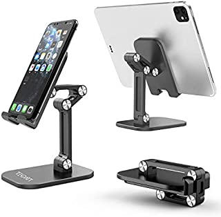 Phone Stand Holder, Tekpatt Foldable Mobile Stand Holder for Desktop Stand, Portable Phone Desk Holder, Stable Mobile Desk...