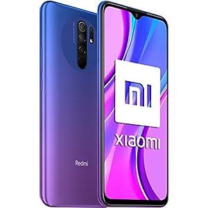 """Xiaomi Redmi 9 - Smartphone con Pantalla FHD+ de 6.53"""" DotDisplay, 4 GB y 64 GB, Cámara cuádruple de 13 MP con IA, MediaTek Helio G80, Batería de 5020 mAh, 18 W de Carga rápida, Púrpura"""