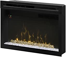 "Dimplex PF3033HG Multi-Fire Xd 33"" Electric Firebox with Glass Ember Bed, Black"