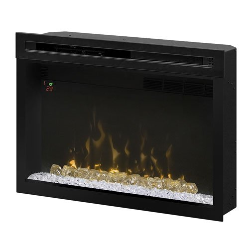 """Dimplex PF3033HG Multi-Fire Xd 33"""" Electric Firebox with Glass Ember Bed, Black"""
