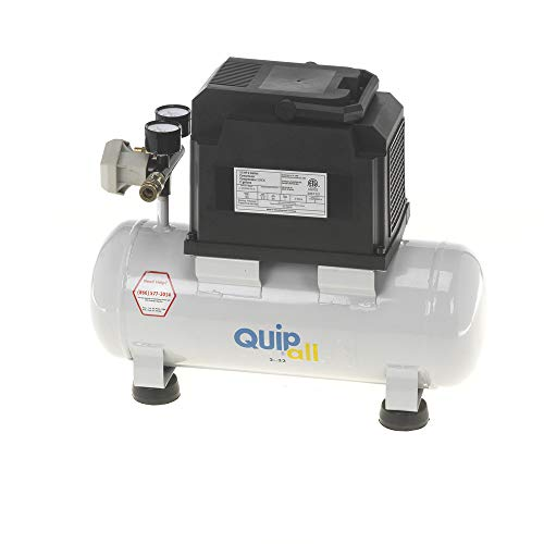 Quipall 2-.33 1/3 HP 2 Gallon Oil-Free Hotdog Air Compressor