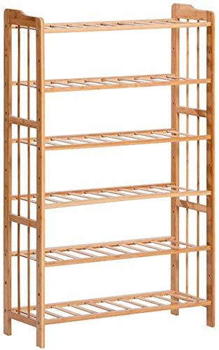 ZFFSC schoenenrek woonkamer gang Nanzhu schoenenkast badkamer vloer 5 storey kast slaapkamer locker (kleur: houtkleur, grootte: 68 * 25 * 109cm) 68 * 25 * 109cm Wood Color