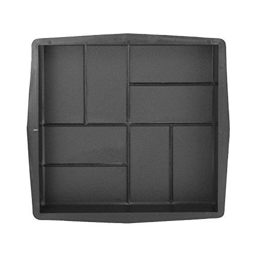@tec Betonform Schalungsform Gießform Plastikformen für Beton, Pflastersteine, Terrassenplatten, Trittplatten, Bodenplatten und Gehwegplatten in Ziegeloptik/Kacheloptik für Garten 40x40x5 cm