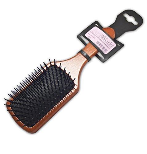 Cepillo profesional raqueta de madera rectangular tam. mediano sesiomworld