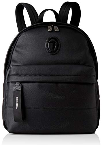 Trussardi Jeans, CANAZEI BACKPACK SMOOTH ECOLEA Uomo, Black, NR