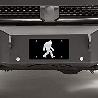 JMM Industries Bigfoot Sasquatch Vanity Novelty License Plate Tag Metal Car Truck 6-Inches by 12-Inches Etched Metal UV Resistant ELP099