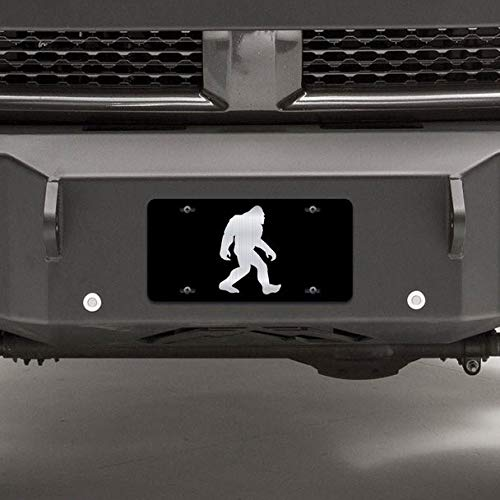 JMM Industries Bigfoot Sasquatch Vanity Novidade placa de licença etiqueta metal carro caminhão 15 cm por 30 cm metal gravado resistente a UV ELP099