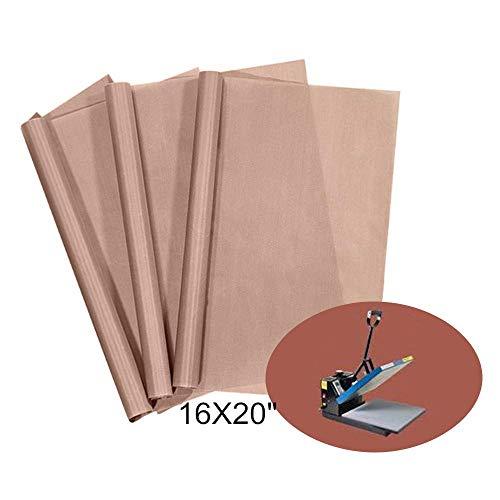 3 Pack Teflon Sheet for Heat Press Transfer Sheet Non Stick PTFE About 16 x...