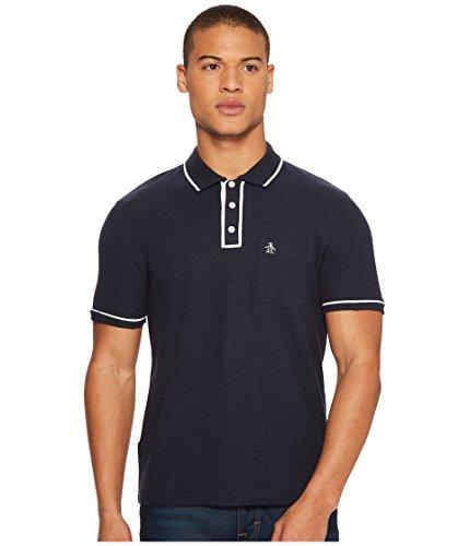 Original Penguin Men's Earl Short Sleeve Polo Shirt, Dark Sapphire/Bright White, X Large