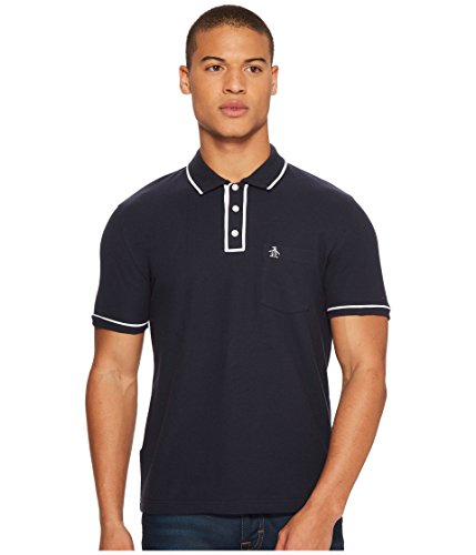 Original Penguin Men's The Earl Polo, dark sapphire/bright white, Medium