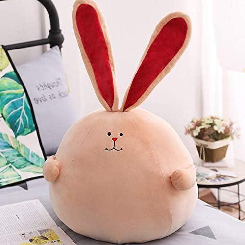 DONGER Niedliche Kaninchen Puppe Spielzeug Faul Schlaf Kissen Rosa Bett Puppe Kaninchen Puppe, Braunes Modell,   38 cm Ohren 36 cm