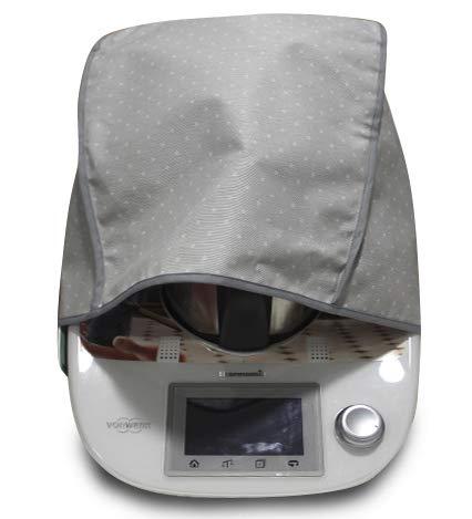 Schutzhülle schmutzabweisend für Thermomix Polka Dot grau TM5und TM31