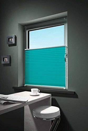 Plissee Rollo Sonnenschutz | Aqua | 75x130 cm | Polyester