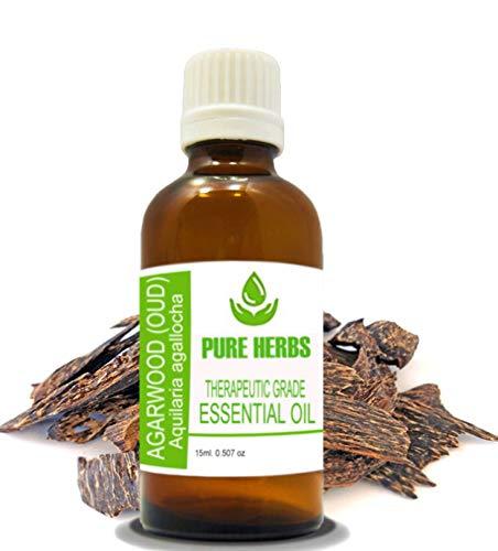 Agarwood (Oud) Pure & Natural Therapeutic Grade Aquilaria Malaccensis Essential Oil 15 ml