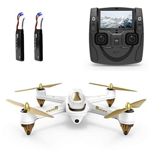 Hubsan H501S X4 Brushless Drohne GPS 1080P HD Kamera 5.8 Ghz FPV 2.4 Ghz RC Quadcopter Mit H901A Sender Weiß Standard Version Mit 2 Batterien Für Drohne