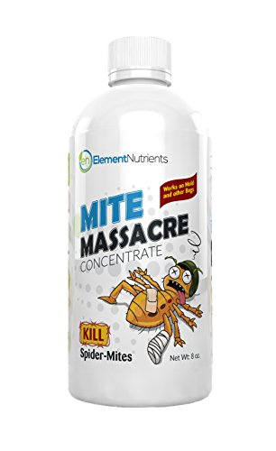 Mite Massacre 8 oz. Spider Mite Killer and Powdery Mildew Fighter – Makes 8 GALLONS of Spray