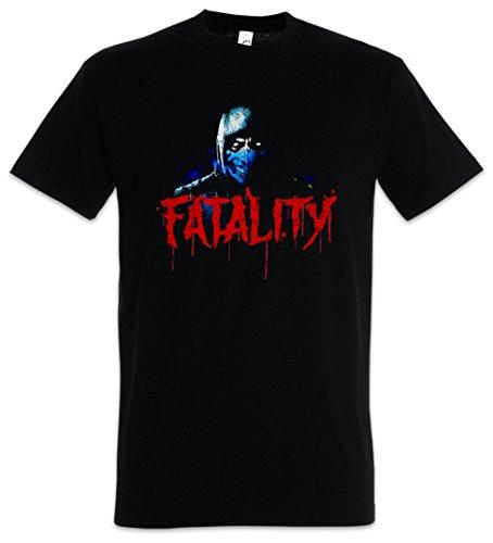 Urban Backwoods Vintage Sub-Zero Fatality Herren T-Shirt Schwarz Größe 4XL