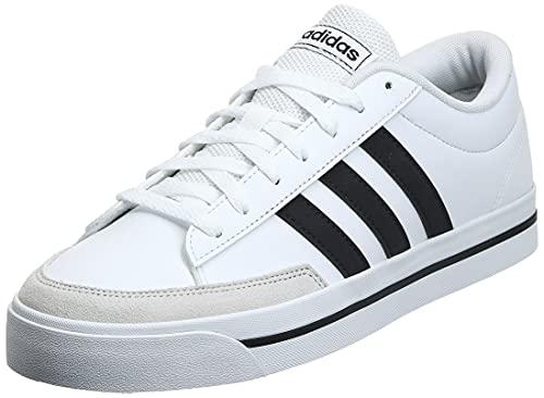 adidas RETROVULC, Scarpe da Ginnastica Uomo, Ftwr White/Core Black/Dove Grey, 43 1/3 EU